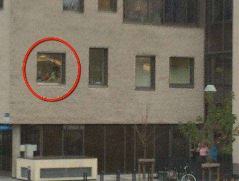 INNSYN FRA GATEN: Volvat-ledelsen beklager at operasjon foregikk uten at vinduet var blendet for innsyn fra gaten.