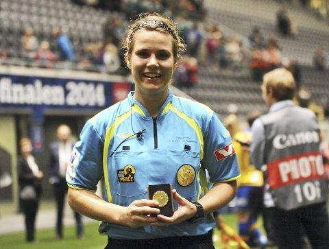 Gjennomførte: Emilie Rodahl Dokset gjorde en bra jobb i finalen og fikk etterpå en utmerkelse. Foto: Solfrid Therese Nordbakk