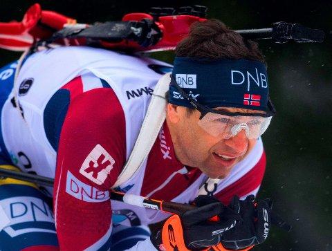 SLITER: Ole Einar Bjørndalen har foreløpig vist lite som minner om god OL-form denne sesongen. Her fra 10-kilometeren i Oberhof nylig.
