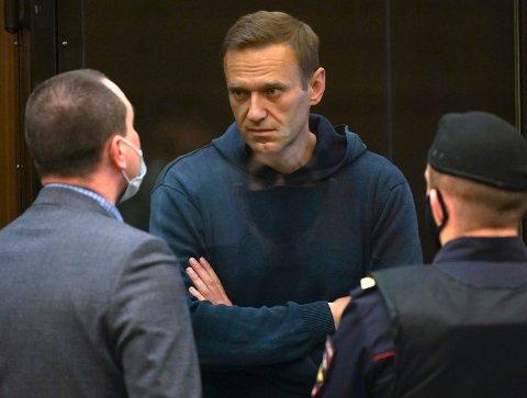 DØMT: Tirsdag ble Aleksej Navalnyj dømt til tre og halvt års fengsel.