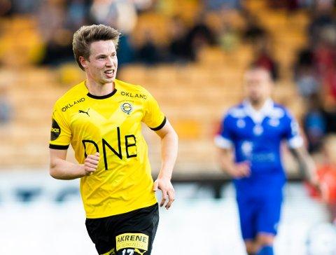 Kristoffer Ødemarksbakken scoret 1-1-målet i Lillestrøms treningskamp mot Kristiansund i forrige uke.