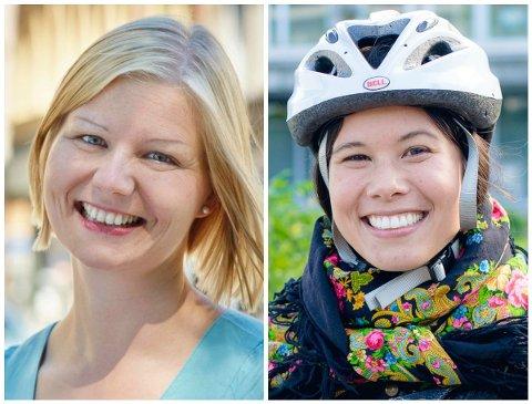 FULL SPLID OM VEIBYGGING: Guri Melby (til venstre) og Lan Marie Nguyen Berg står på førsteplass på lista til henholdsvis Venstre og MDG i Oslo. Melby er i dag byråd for miljø og samferdsel i hovedstaden.