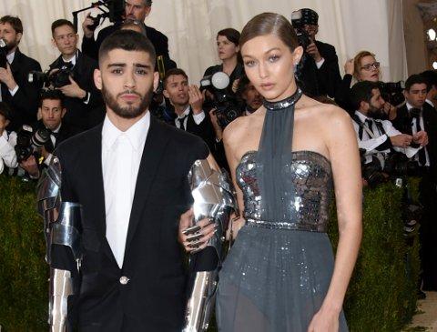BRUDD: Stjerneparet Gigi Hadid (22) og Zayn Malik (25) gjør det slutt etter to år sammen.