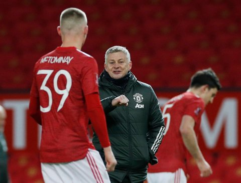 KVARTFINALE: Ole Gunnar Solskjærs Manchester United henger fortsatt med i FA-cupen.