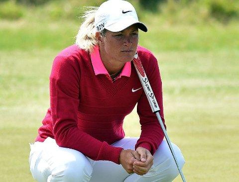BAK: Suzann Pettersen ligger bak de beste i British Open.