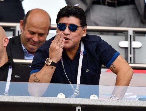 SLUTTER: Diego Maradona gir seg som Dorados-trener etter sesongen.