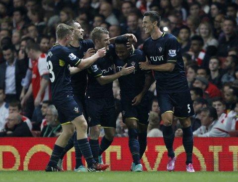 DRØMMETREFF: Nathaniel Clyne scoret vinnermålet for Southampton.