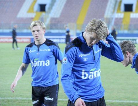 TO UNGUTTER: Mats Møller Dæhli (19) og Martin Ødegaard (15).