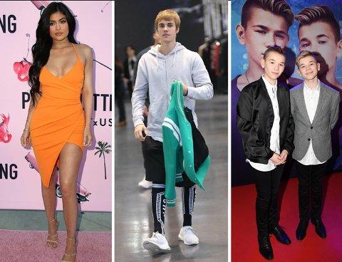 Hvor høye er egentlig Kylie Jenner, Justin Bieber og Marcus & Martinus?
