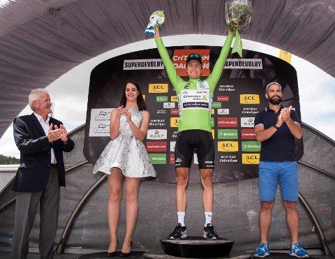 GRØNN GLEDE: Edvald Boasson Hagen kan ta med seg den poengtrøya hjem fra rittet mange regner som generalprøven før Tour de France - Critérium du Dauphiné.
