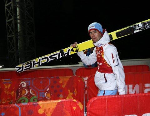 Anders Bardal ligger på fjerdeplass etter første omgang. Foto: Terje Bendiksby / NTB scanpix