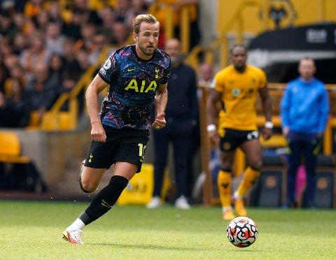 Harry Kane i aksjon borte mot Wolverhampton sist helg.