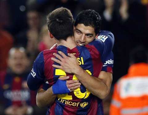 STORSPILTE: Barcelonas Luis Suarez.