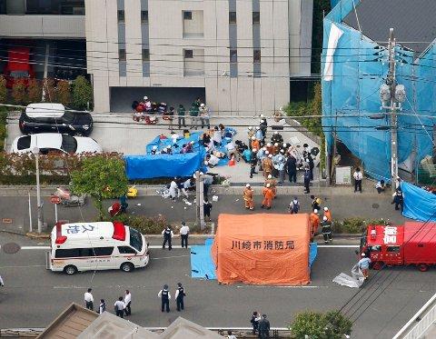 Angrepet i Kawasaki skjedde ikke langt unna Noborito-stasjonen tirsdag morgen lokal tid. Foto: AP / NTB scanpix