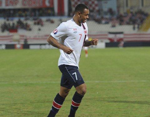 STORSPILL: Joshua King scoret to ganger for Norge mot Malta.