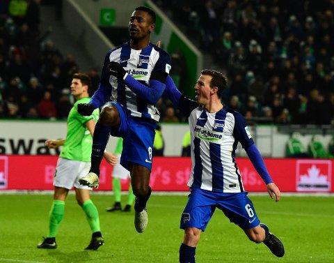 MATCHVINNER: Salmon Kalou var kald som en fisk da han ordnet Herth-seier fra straffemerket mot Wolfsburg.