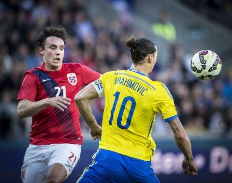 HARDE TAK: Vegard Forren måtte holde styr på Zlatan Ibrahimovic.