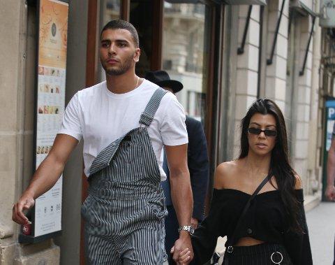 Kourtney Kardashian og Younes Bendjima i Paris i helgen <3