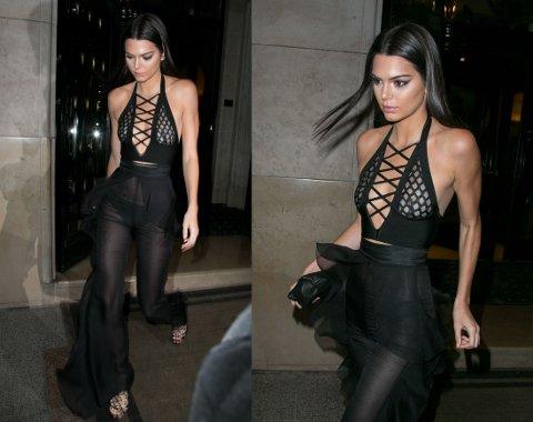 AVSLØRENDE: Kendall Jenner stilte i avslørende buksedress.