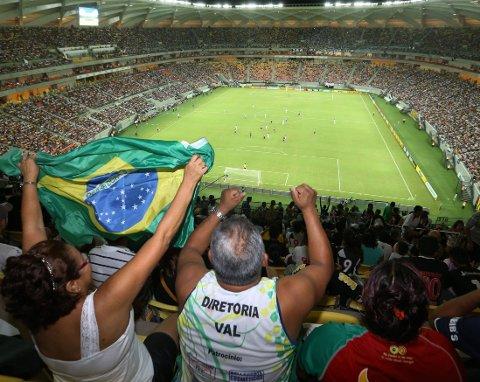 HELVETE PÅ JORD: Ble Arena da Amazonia omtalt sokm av britiske aviser.