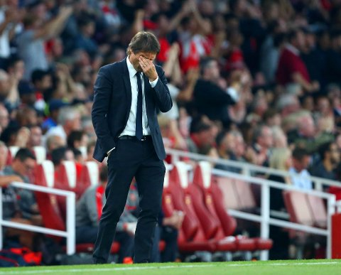 MARERITTKAMP: Chelsea-manager Antonio Conte fikk langt ifra en ønskeforestilling fra egne spillere i sitt første byderby mot Arsenal.