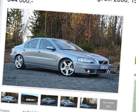Dette er en volvo utenom det vanlige. S60 R ble det bare solgt 11 nye av i Norge - og dette er en av dem. Og om den var ganske uoppnåelig ny, begynner prisen helt klart å bli overkommelig nå ...
