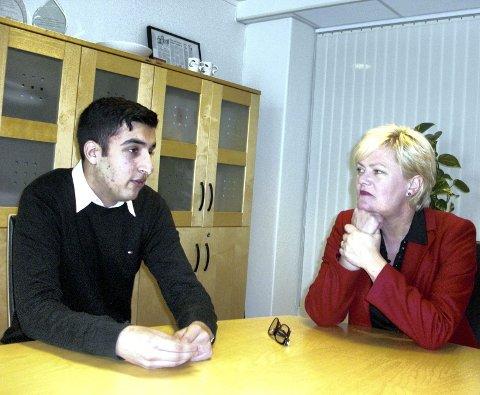 TOPPJOBB: Sarmad Wajahit bidro til Operasjon Dagsverk gjennom å jobbe hos Kristin Halvorsen (SV).FOTO: BRITT NESTEBY