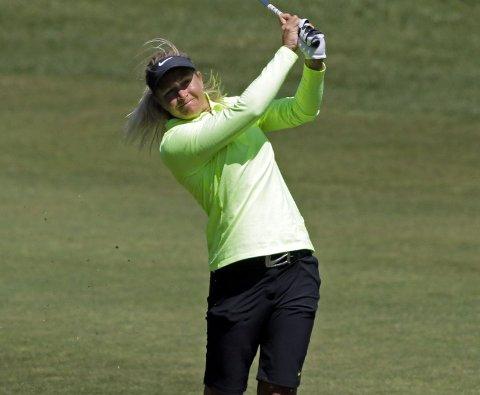 LANGT BAK: Golfstjerne Suzann Pettersen.