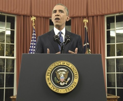 OBAMA: USAs president Barack Obama fotografert i Det ovale rom i Det hvite hus.