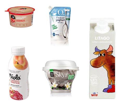 GÅR UT AV HYLLENE: Flere av produktene i meierihylla går ut, men noen erstattes av andre produkter.