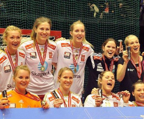 Kristine Breistøl scoret ett mål da Larvik vant NM-finalen.