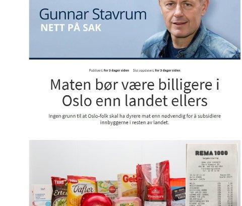 Skjermdump fra Nettavisen.