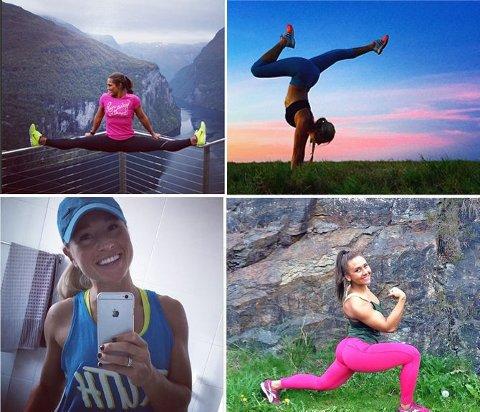 PÅ INSTAGRAM: Mange deler treningsbilder og videoklipp på sosiale medier.