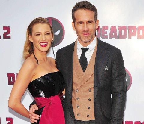 Blake Lively og Ryan Reynolds på premieren til Deadpool 2.