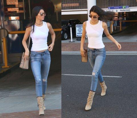 ENKELT: Det slår aldri feil med de perfekte jeansene, pilotbriller og hvit singlett. Foto: Getty Images