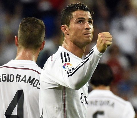 SCORET: Cristiano Ronaldo satte inn 2-0 for Real Madrid.