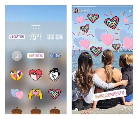 Instagram slipper tre nyheter på foto-og bildetjenesten. Nye stickers er en av dem.