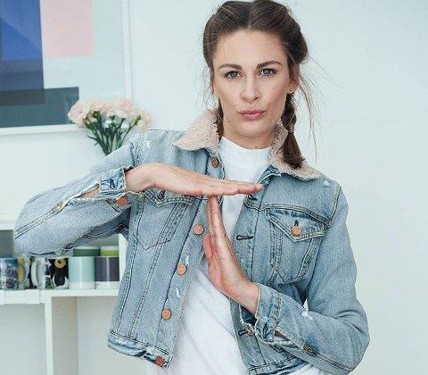 Jenny Skavlan har naturlig nok egen profil på Tise. Denne jakken er noe av det hun har solgt.