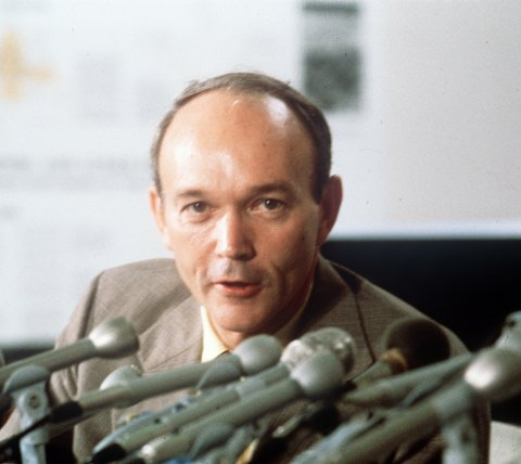 Av yrke var Michael Collins testpilot og general i det amerikanske luftforsvaret. Arkivfoto: NTB