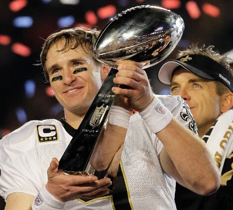 Drew Brees vant Superbowl i 2010. Foto: Julie Jacobson / AP / NTB