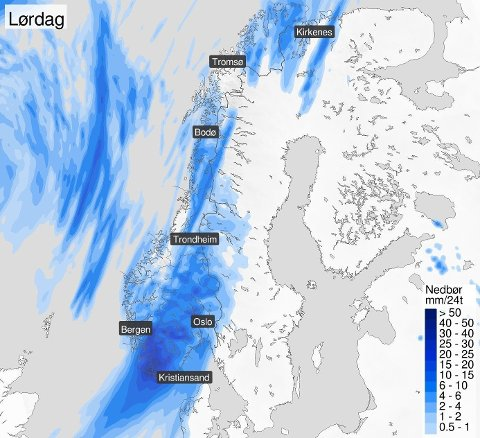 GAVMILDE: Meteorologen hadde et skråblikk på været som nærmest så ut til å ha siktet seg inn på Norge som land.