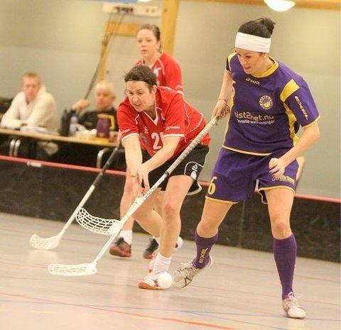 Tunets Emma Eriksson var best hos hjemmelaget. Her i duell med banens beste, Grei/Målløs´ Helena Lindberg.
