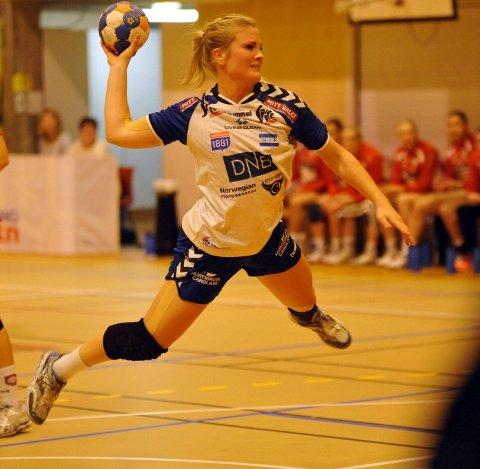Lillann Eeg Kjærnsmo scoret seks mål mot Halden og var et stadig uromoment for Halden, særlig i første omgang.