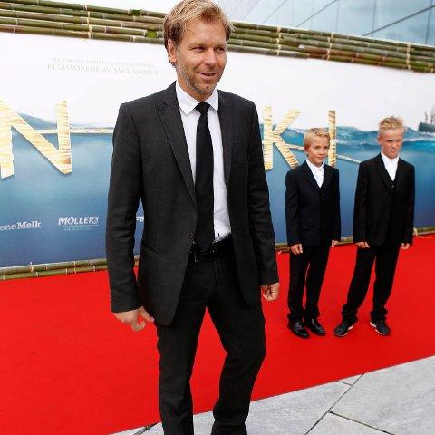 Espen Eckbo ankommer festpremieren for filmen Kon-Tiki på Operaen torsdag.