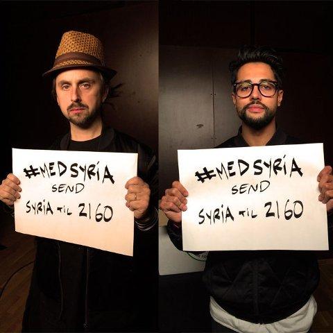 Don Martin og Chirag Patel, fra Karpe Diem, er #medSyria.