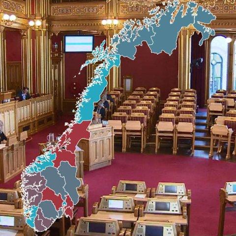 NYE NAVN OG NYE FYLKER: Stortinget har talt. Slik ser det nye norgeskartet ut fra 2020.
