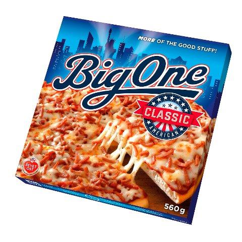 Orkla Foods Norge kaller tilbake Big One Classic merket «Best før 01.06.2020», «Best før 02.06.2020» og «Best før 23.06.2020». Produktet tas tilbake fordi det er funnet rester av blå mykplast i et avgrenset parti. Foto: Orkla Foods / NTB scanpix