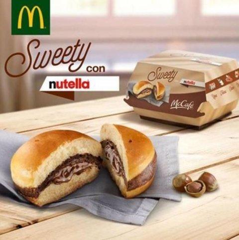 FRISTENDE: Nutella er digg, burger er digg, så hvorfor ikke bare slå de to sammen? tenkte Mcdonald's.