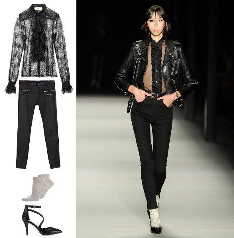 Topp fra H&M, bukse fra Zara, sokker fra Cameo, sko fra Aldo.