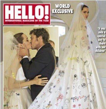 Brad Pitt og Angelina Jolie har også solgt bildene til Hello!